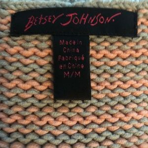Betsey Johnson Sweaters - Betsey Johnson Short Sleeve Peplum Stripe Sweater